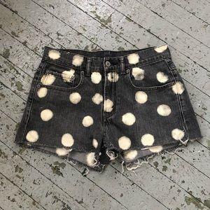 Levis Polka Dot Denim Shorts